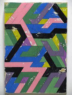 Aaron S Moran, Excavations  Acrylic, house paint, pencil, varnish on reclaimed wood   (2011)