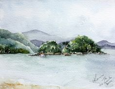 Peppermint Patty's Papercraft: Sunday Watercolor #2: Plein Air painting in Brazil