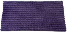 crochet rug with ridges