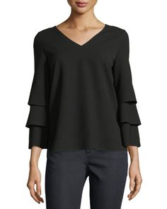 Velez+Finesse+Crepe+Blouse++by+Lafayette+148+New+York+at+Neiman+Marcus.