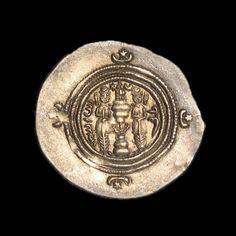 Sasanian Empire - Khusro II, c. 590-628 A.D. Silver Drachm