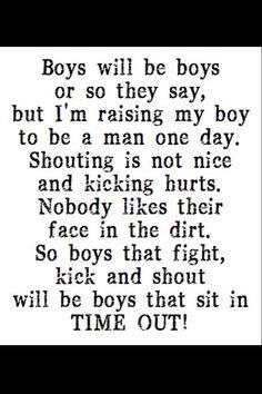 Raising my boy to be a man