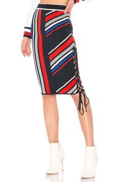 e067398bf1 Tommy Hilfiger TOMMY X GIGI Gigi Hadid Intarsia Skirt in Midnight & Multi  Gigi Tommy Hilfiger