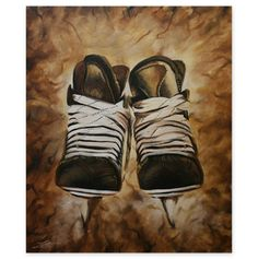 skates Hockey Pictures, Sports Pictures, Soccer Art, Creative Outlet, Creative Ideas, Hockey Gifts, Paint And Sip, Learn To Paint, Gifts For Boys
