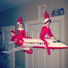 Elves on the Shelf arrived from the North Pole.