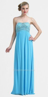 ShopStyle: Sue WongTurquoise Retro Inspired Evening Dresses by