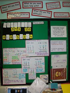 Y6 maths working wall by miramlord, via Flickr