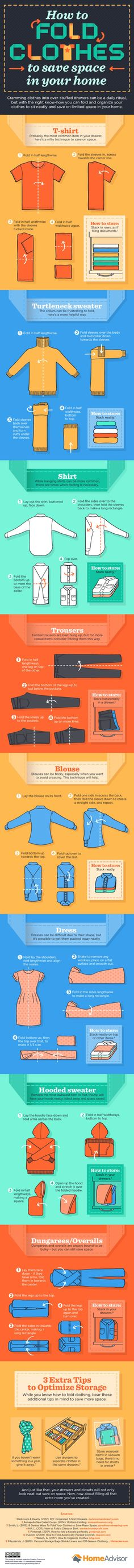 How to Fold Clothes Infographic