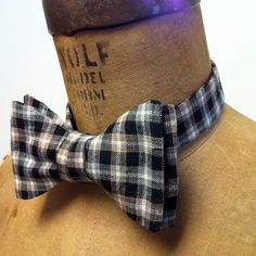 Mens / Boys Bow Tie  Geek Chic Number 61  BLACK & by theHouseofLux, $37.00