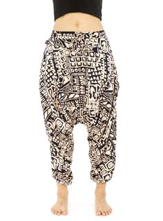 654ceb093272b $80 Buddha Pants | beige aztec Cotton Harem Pants, Buddha Pants, Drop  Crotch Pants