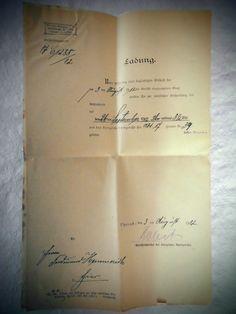 Alte Ladung, Gericht, 1912 Einstellung d. Zwangsvollstreckung u. Armenrecht