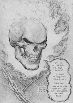 Ghost Rider - Burn by Wayne Nichols