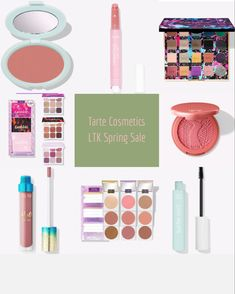 Tarte Cosmetics LTK Spring Sale - shade quirky in the blush, shade alight in the glow wand, shade pink sky in the cream blush, shade salt lyfe in the gloss and shade rose and merry martini in the juicy lip. #ltkbeauty #ltkunder100 @liketoknow.it #beautytrend #beautyproducts #makeupoftheday #makeup #blush #highlightermakeup #highlighter #eyeshadow #mascara #lipgloss #lipstick #lipstickcolors