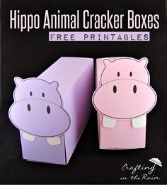 Hippo Crafts for National Hippo Day | Crafting in the Rain #hippo #hippopotamus