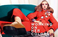 dustjacket attic: Working Those Colors (lindsey wixson by sharif hamza)