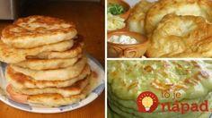 7 najlepších receptov na domáce langoše! Mashed Potatoes, Pancakes, Food And Drink, Pizza, Drinks, Breakfast, Ethnic Recipes, Sweet, Whipped Potatoes