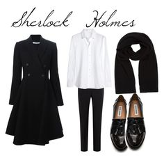 """""""Sherlock Holmes"""" by megansjgood on Polyvore featuring Givenchy, Paul Smith Black Label, Yves Saint Laurent, Steve Madden and Comptoir Des Cotonniers"""