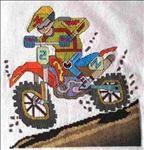Free...Motocross...counted cross stitch pattern