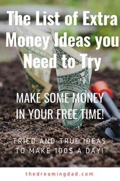 want to know how to make some extra money in your spare time? Making some easy extra money can help you reach financial freedom or make you retire early. It can also be used to save some extra money for vacations. Make 100 A Day, Make Easy Money, Make Money Online, Thing 1, Money Matters, Work From Home Jobs, Finance Tips, Money Management, Extra Money