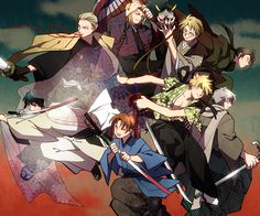 Cosplay World Conference by mee - Hetalia - Japan / Germany / France / America / China / Russia / England / Italy