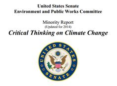 U.S. Senate Report Counters Global Warming Claims: 'THE SCIENCE IS SETTLED: THE GOVERNMENT CAN'T CONTROL CLIMATE'