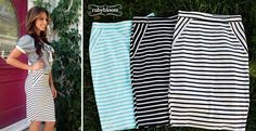 Striped pencil Skirts!