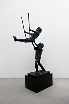 Nathan Mabry, former exhibiting artist at the Nasher Sculpture Center in Dallas. Artist works predominantly in bronze to create his figurative pieces.
