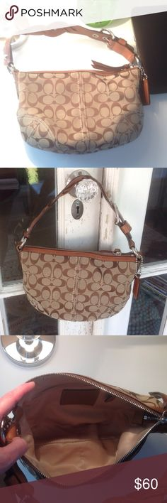 "Coach purse Coach purse.  Authentic!!  Gently used, no signs of wear. Cute hobo style, with braided leather strap.  Measures 12"" x 9"" and sits well on shoulder. Coach Bags"