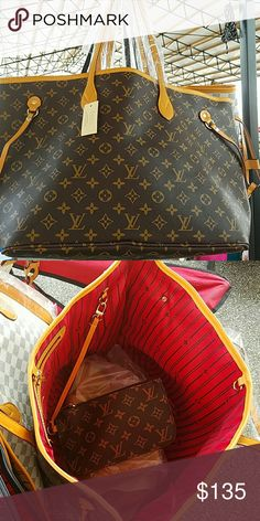 Louis Vuitton inspired neverful New . Beautiful bag. Price reflects authenticity Bags Shoulder Bags