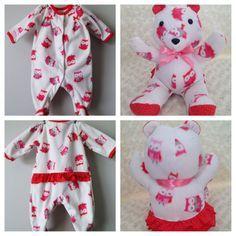 teddy bear from footie pjs keepsake diy - Google Search