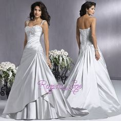 If you want to look amazing then you must choose your wedding dress very carefully. If you think that a silver wedding dress is a good option then you should not hesitate in choosing it. It is a modern and popular choice and there are a lot of brides that consider that a silver dress is the best choice for every woman. This is a dress that can be easily accessorized with any wedding bouquet and with any jewelries.