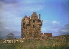 Faside Castle during restoration. Holiday Accommodation, Small Businesses, Edinburgh, Monument Valley, Restoration, Castle, Places, Travel, Beautiful