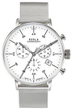 Garde Ruhla Herren Chronograph 91203M - Milanaiseband - 42 mm in Uhren &…