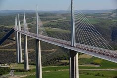 doontech provides the information about Millau Bridge, the tallest bridge in the world . It is a Cabled stayed bridge which crosses the valley of river Tarn