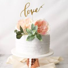 Deco Baby Shower, Cute Baby Shower Ideas, Wedding Shower Cakes, Small Wedding Cakes, Wedding Cake Knife And Server Set, Simple Bridal Shower, Bridal Showers, Love Cake Topper, Simple Weddings