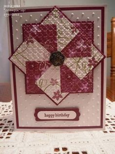 Quilted Birthday Cards by JJ Rubberduck - Cards and Paper Crafts at Splitcoaststampers