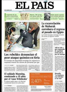 Principales Titulares de Portadas Diarios Periódicos Españoles del Jueves dia 22 de Agosto de 2013 ¿Que le Parecio este día? Aquí encontrará diferentes Portadas de Diarios y Periódicos Españoles procurando reflejar el día a día de las Noticias en España con lo que reflejan destacado en sus Titulares, Spain News ¡Esperamos os Guste la idea!