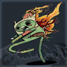 Finn The wandering ZOMBIE Adventure Time by SacEnemies.deviantart.com on @DeviantArt