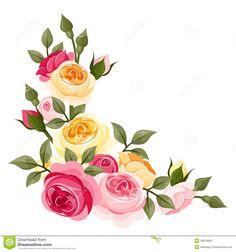 Rózsaszín és sárga Vintage rózsák Jogdíjmentes Stock képek Kép