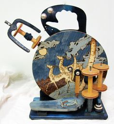 Hand Painted Spinning Wheel from The Merlin Tree