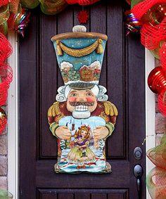 Look at this #zulilyfind! Old World Nutcracker Door Hanger #zulilyfinds