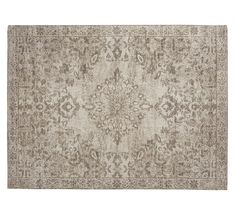 LOVE this style of rug from potterybarn. it is not too bold but is still a statement. Not sure  if it is big enough