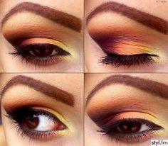 Loving this sunset-like color palette