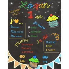 Affiches d'anniversaires de bébé Creations, Boutique, Birthday Posters, Birthdays, Kid, Bebe, Boutiques