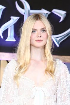 Elle Fanning Long Center Part - Elle Fanning Looks - StyleBistro