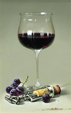 Wine art... but... note the opener!! Not as quick or efficient as that almost perfect 'waiters friend'... but, I've a couple of these... easy,although a little slower... and fun to watch your wine snob friends figure out how...