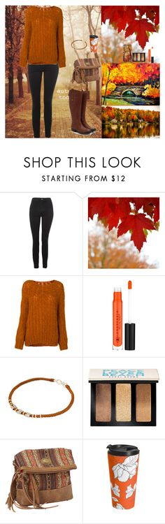 """Autumn Walks In The Park"" by oksana-kolesnyk ❤ liked on Polyvore featuring INC International Concepts, Topshop, Mes Demoiselles..., Anastasia Beverly Hills, NOVICA, Bobbi Brown Cosmetics and Bandana"