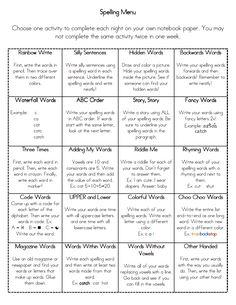 word study ideas