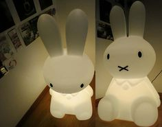 My Scottish Fold cat loves our MrMaria Miffy XL lamp, from Amsterdam! See the cute fat-face kitten with the bunny light here: http://www.lacarmina.com/blog/2013/07/miffy-lamp-mr-maria-kids-lighting-modern-design/    modern lighting design, hip lamp