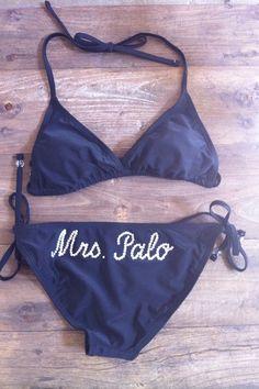 Custom Mrs Bride Honeymoon Bikini sizesSXL by BridalPartyBoutique, $58.50